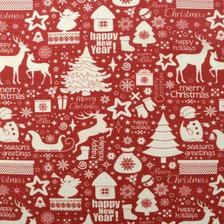 Metráž: Dekorační látka vánoční motivy
