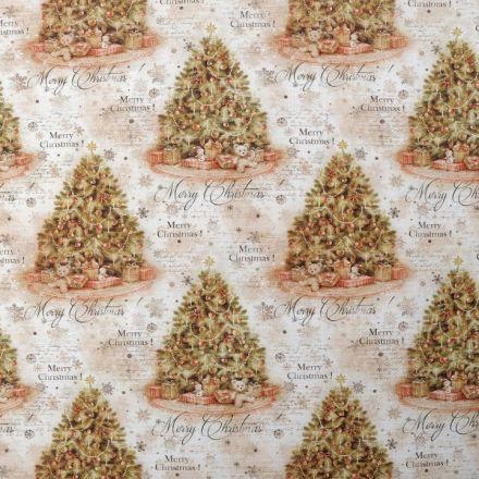 Metráž: Dekorační látka vánoční stromeček