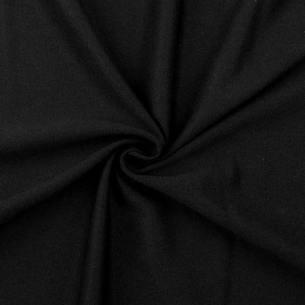 Metráž: Tričkovina piké - černá