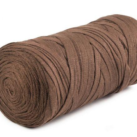 Galanterie: Špagety ploché Ribbon 250g - hnědá