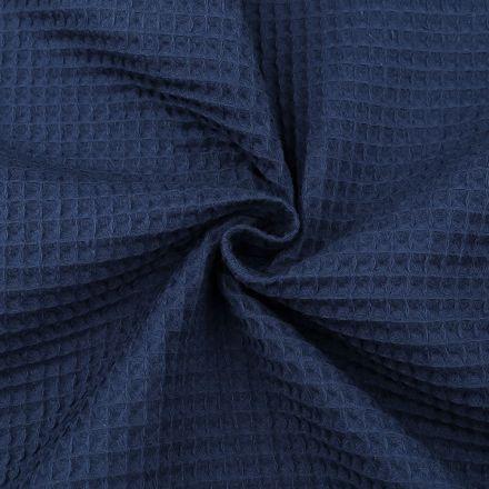 Metráž: Vaflovina šíře 155 cm - modrá tmavá