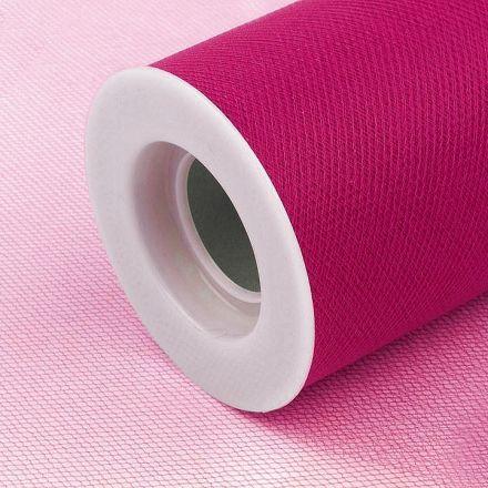 Galanterie: Tyl / stuha šíře 15 cm - ostrá růžová