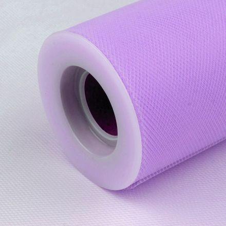 Galanterie: Tyl / stuha šíře 15 cm - fialová lila