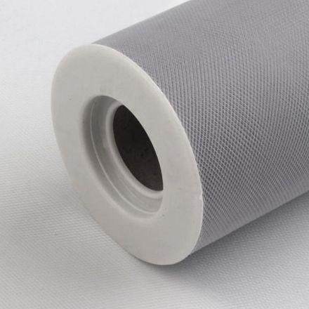 Galanterie: Tyl / stuha šíře 15 cm - šedá