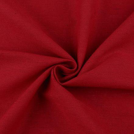 Metráž: Bavlněná látka / imitace lnu - červená