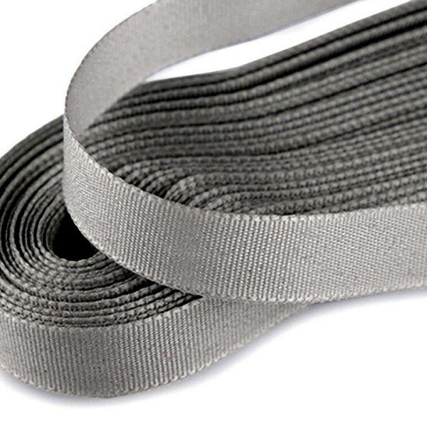 Stuha taftová šíře 9 mm (10m) - šedá