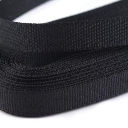 Galanterie: Stuha taftová šíře 9 mm (10m) - černá
