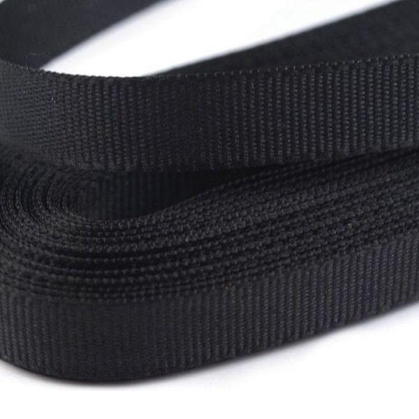Stuha taftová šíře 9 mm (10m) - černá