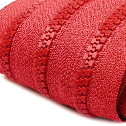 Galanterie: Zip kostěný 5mm - červená