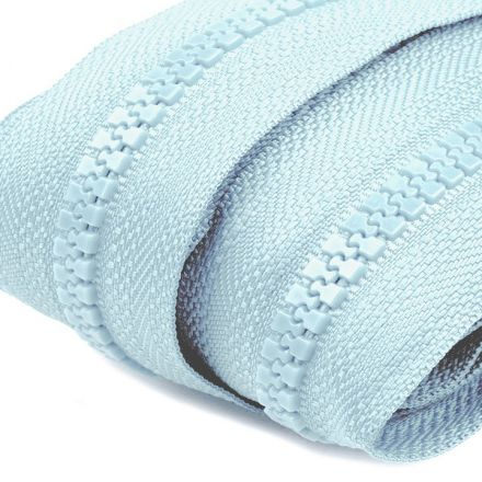 Galanterie: Zip kostěný 5mm - modrá světlá