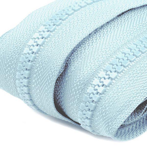 Zip kostěný 5mm - modrá světlá