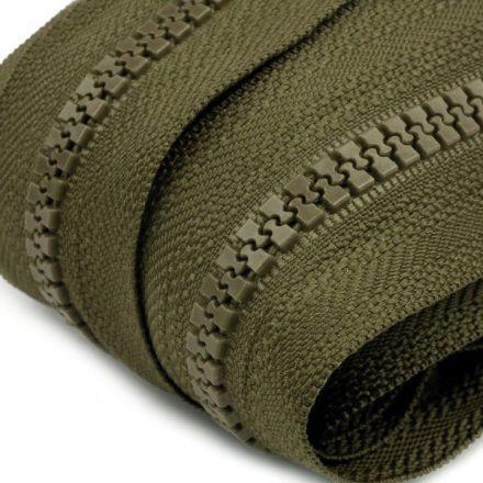 Galanterie: Zip kostěný 5mm - khaki