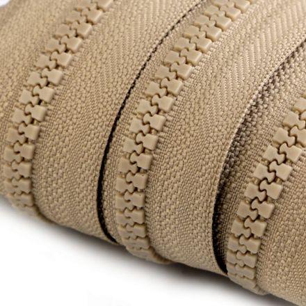 Galanterie: Zip kostěný 5mm - béžová