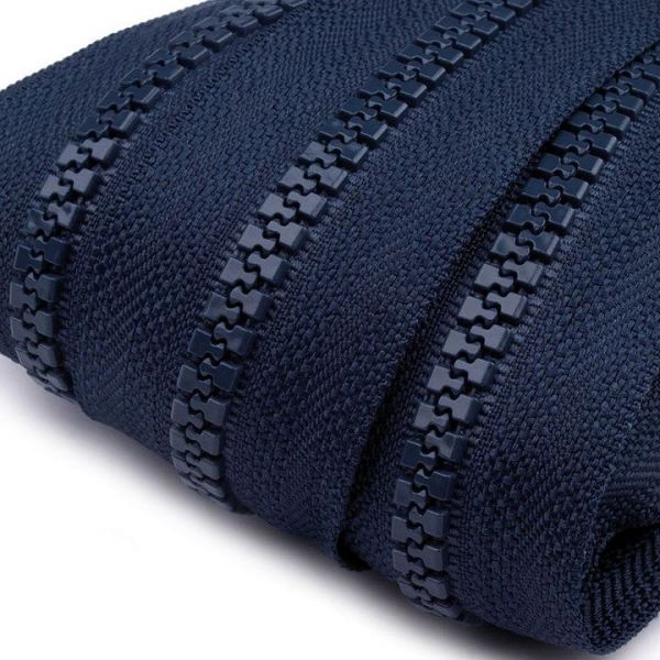 Zip kostěný 5mm - modrá tmavá