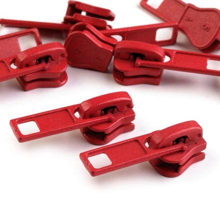 Galanterie: Jezdec ke kostěným zipům 5 mm - červená