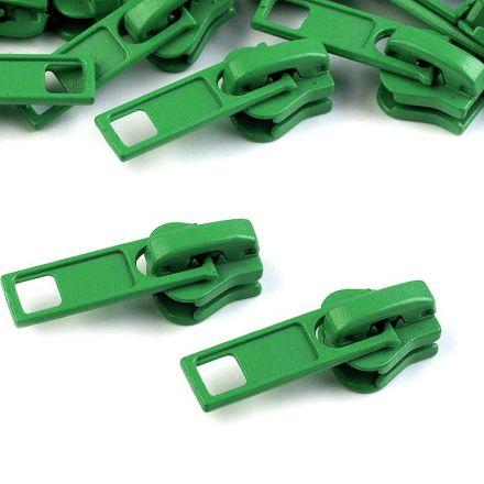 Galanterie: Jezdec ke kostěným zipům 5 mm - zelená