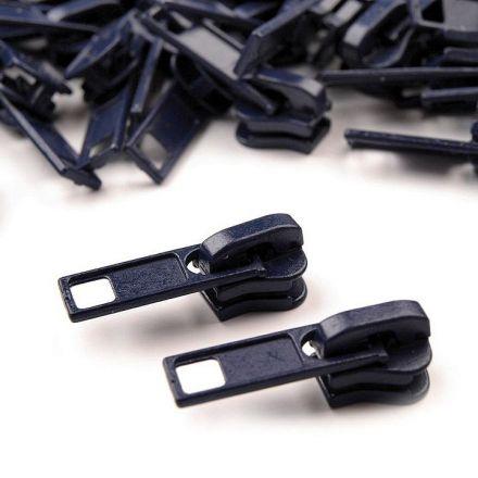 Galanterie: Jezdec ke kostěným zipům 5 mm - tmavě modrá