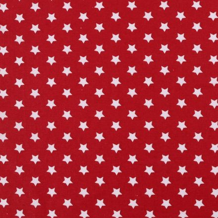 Metráž: Bavlněná látka hvězdy - červenobílá