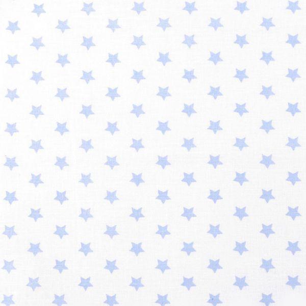 Bavlněná látka hvězdy - bílomodrá světlá