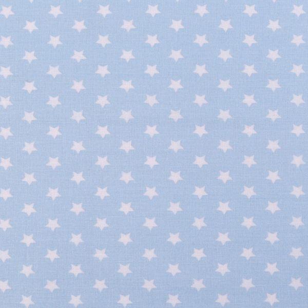 Bavlněná látka hvězdy - modrobílá světlá
