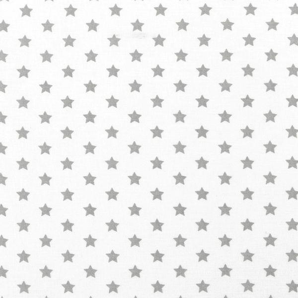 Bavlněná látka hvězdy - bílošedá