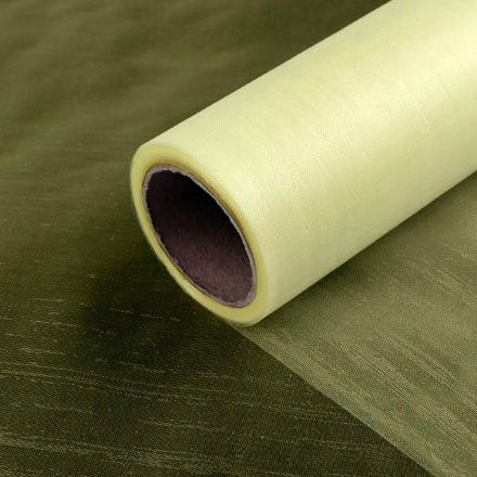 Galanterie: Organza / stuha šíře 14,5 cm (1m) - vanilková