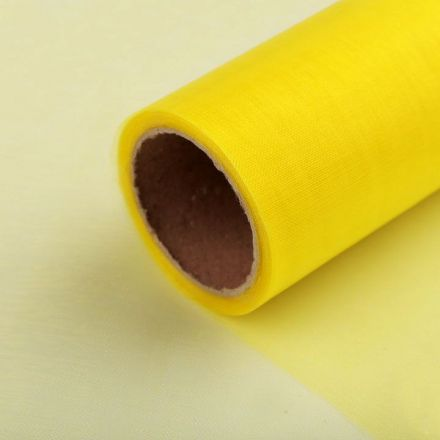 Galanterie: Organza / stuha šíře 14,5 cm (1m) - žlutá
