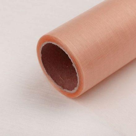 Galanterie: Organza / stuha šíře 14,5 cm (1m) - lososová