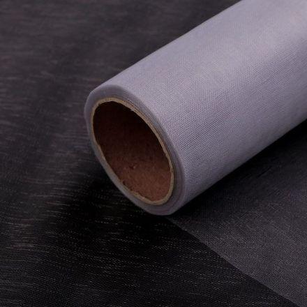 Galanterie: Organza / stuha šíře 14,5 cm (1m) - šedá