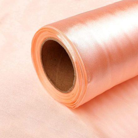 Galanterie: Satén jednostranný / stuha šíře 14 cm - meruňková