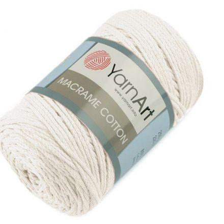 Galanterie: Pletací příze Macrame Cotton 250 g - smetanová