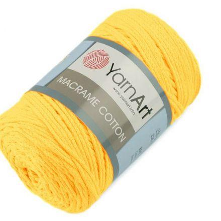 Galanterie: Pletací příze Macrame Cotton 250 g - žlutá