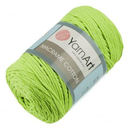 Galanterie: Pletací příze Macrame Cotton 250 g - zelená