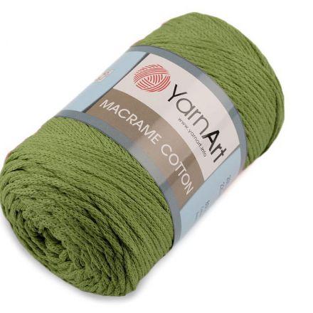 Galanterie: Pletací příze Macrame Cotton 250 g - khaki