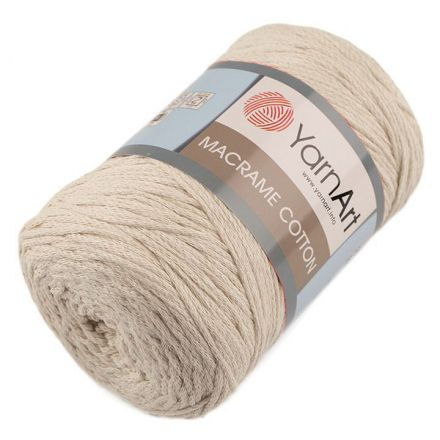 Galanterie: Pletací příze Macrame Cotton 250 g - béžová
