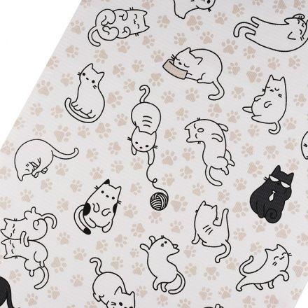 Metráž: Bavlněné vaflové piké (1m) - kočky