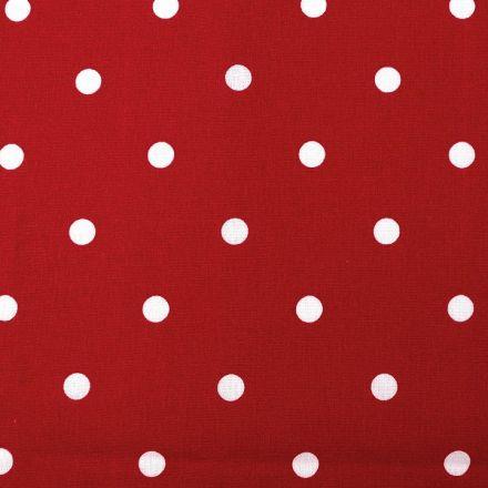 Metráž: Bavlněná látka puntíky - červená