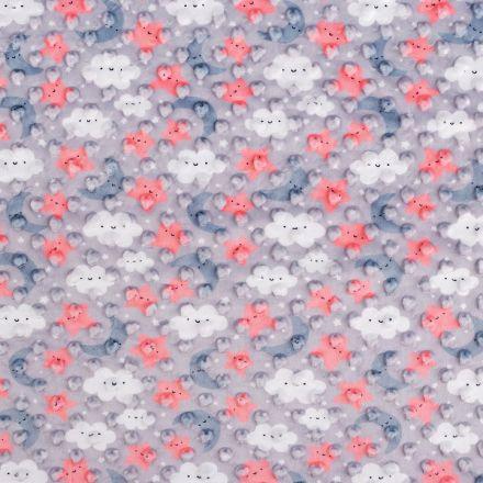 Metráž: Minky s 3D puntíky - hvězda