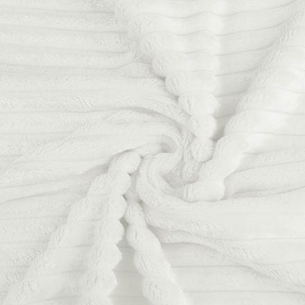 Metráž: Minky proužky - bílá