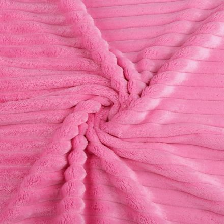 Metráž: Minky proužky - růžová tmavá
