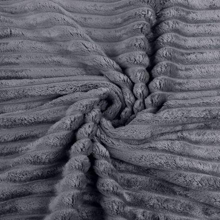 Metráž: Minky proužky - šedá tmavá
