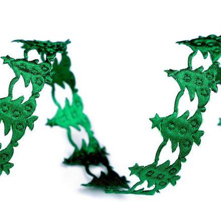 Galanterie: Vánoční saténový prýmek - zelená