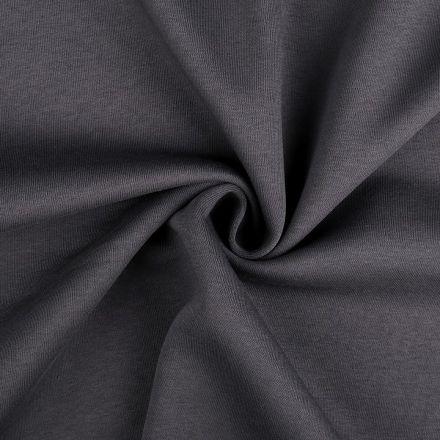 Metráž: Teplákovina počesaná šíře 180 cm - šedá tmavá