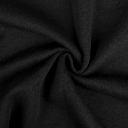 Metráž: Teplákovina počesaná šíře 180 cm - černá