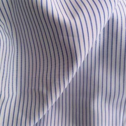 Metráž: Bavlněná látka proužek - modrá