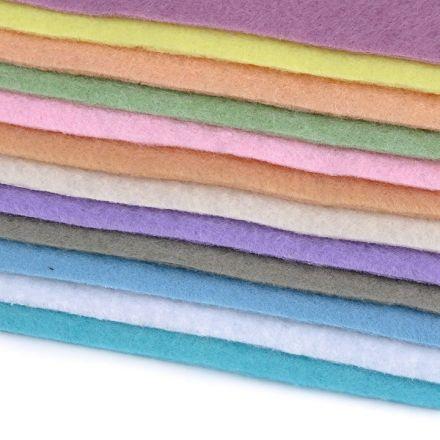 Galanterie: Látková dekorativní plsť/filc (12ks)