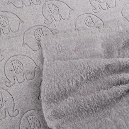 Metráž: Minky slon - šedá