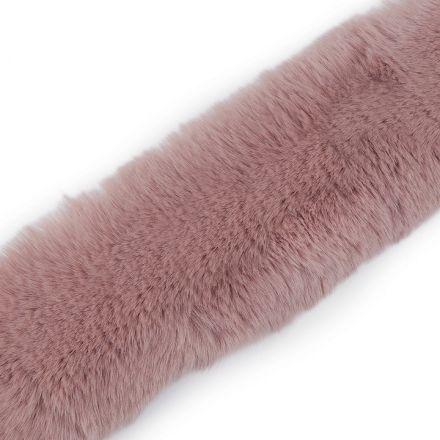 Metráž: Oděvní kožešina šíře 5 cm - pudrová