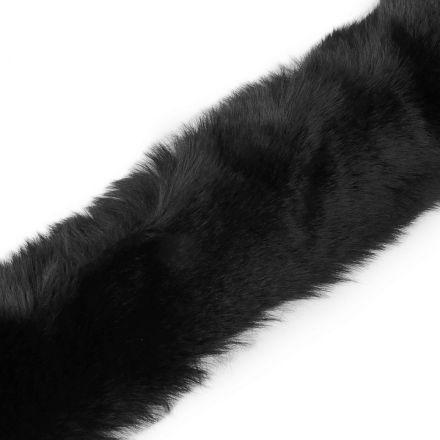 Metráž: Oděvní kožešina šíře 5 cm - černá