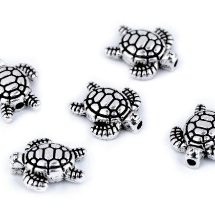 Galanterie: Kovový korálek (1ks) - želva